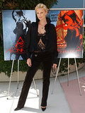 Charlize Theron struck a statuesque post to promote Aeon Flux in 2005.