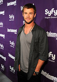 Chris Hemsworth looked hot and scruffy while attending a SyFy party during Comic-Con in 2010.