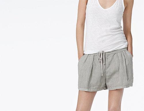 Pleated Linen Short