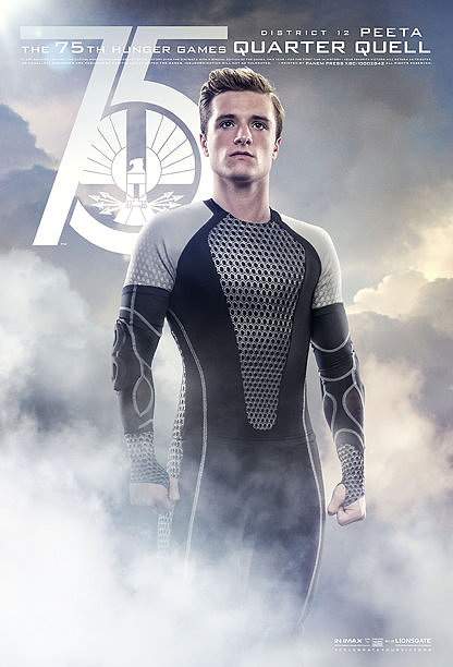 Josh Hutcherson as Peeta, Katniss' fellow District 12 victor in the Quarter Quell.