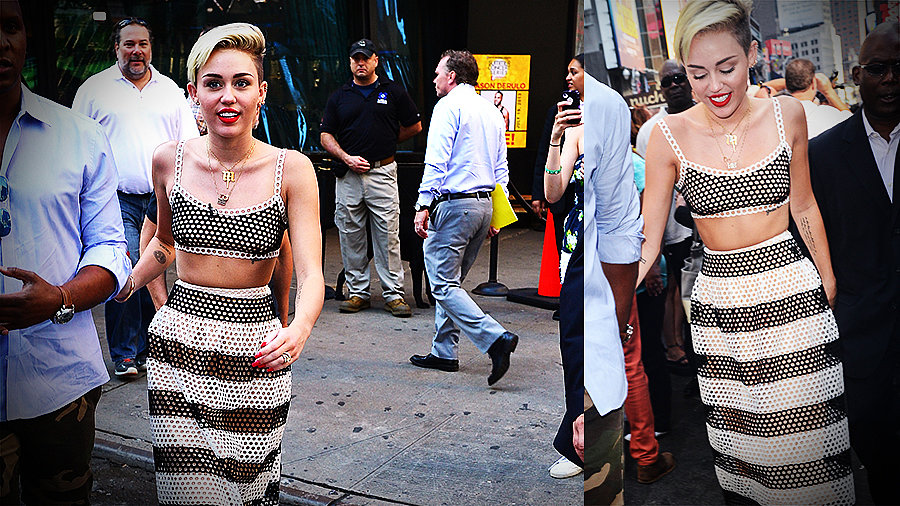 Miley Cyrus's Love Affair With Crop Tops Continues