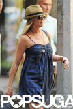 Jennifer Aniston smiled as she headed to the NYC set on July 16.