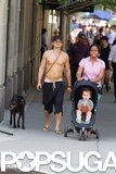 Orlando Bloom was with his son, Flynn, and his dog in NYC.