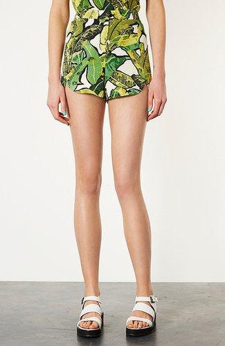 Topshop Banana Leaf Shorts