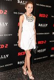 Olivia Palermo accessorized her LWD to perfection while attending The Cinema Society's screening of Red 2.