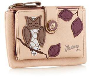 Light pink applique owl purse
