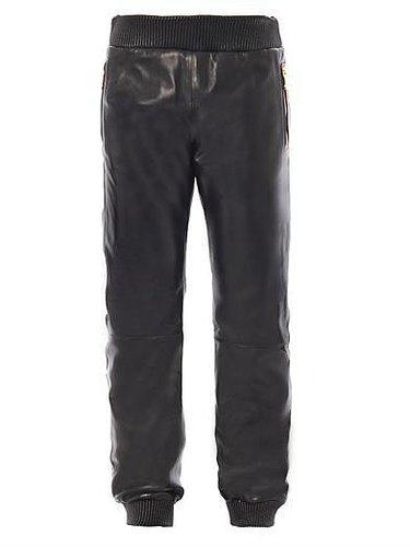 Versace Leather sweatpants