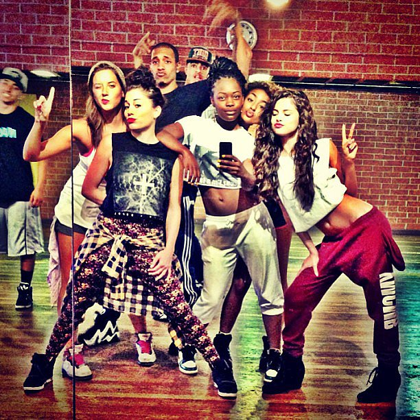Selena Gomez shared a snap during dance rehearsals. Source: Instagram user selenagomez