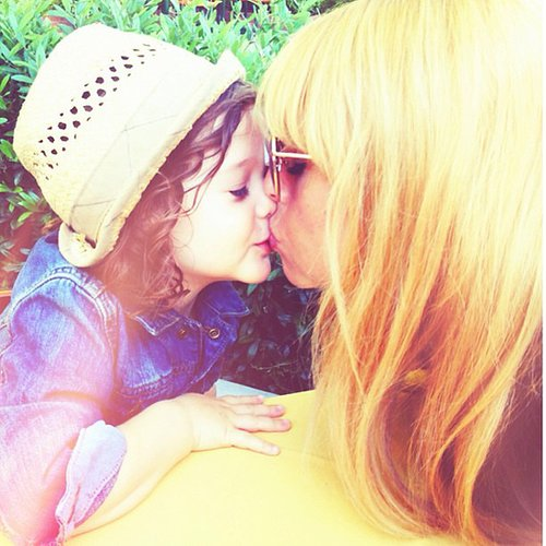 Rachel Zoe gave a sweet smooch to her son, Skyler. Source: Instagram user rachelzoe