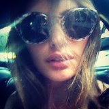 Model Alyssa Miller showed off a chic pair of Zac Posen shades. Source: Instagram user luvalyssamiller