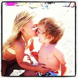 A seaside smooch! Source: Instagram user estella_max_leos_mommy