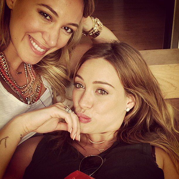 Hilary Duff spent some quality time with her sister, Haylie. Source: Instagram user hilaryduff