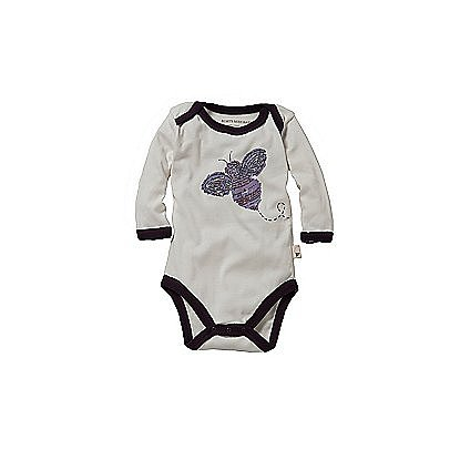 The Buzzword Bodysuit ($10) offers a bold alternative to Burt's Bees Baby's standard soft pinks, blues, and grays.