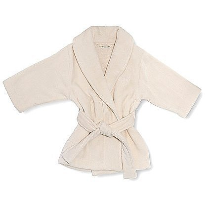 One of the brand's signature pieces, the Snuggle Me Robe ($29) comes in both natural and pure white plush velour and can be personalized with your baby's monogram or name.