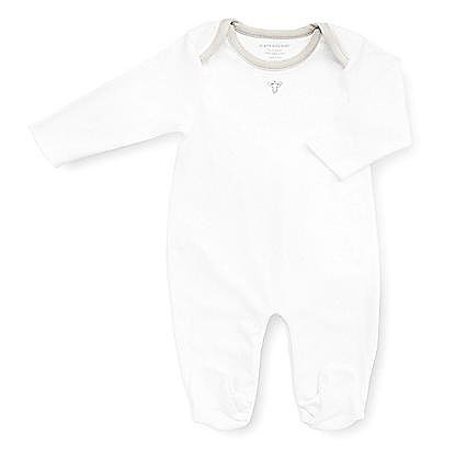 The luxe Pima Footie Coverall ($29) would be equally appropriate for a baby boy or girl's layette.