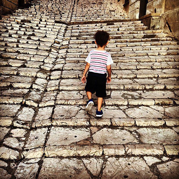 Joel Madden snapped a photo of his son, Sparrow, in Italy. Source: Instagram user joelmadden
