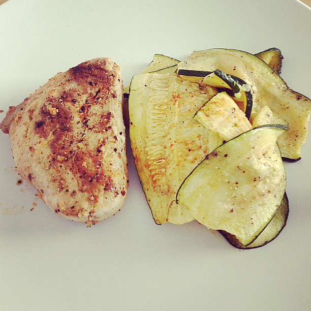 Often, simple is best, like for this chicken breast served with cayenne-spiced zucchini. Source: Instagram user anya_tiu