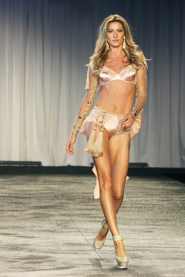 Gisele Bündchen sported an over-the-top getup for a lingerie fashion show in Sao Paulo, Brazil, in May 2011.