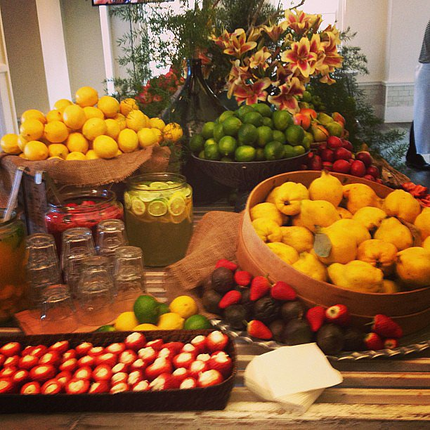 Not a bad spread, hey? We were loving all the fresh fruit and delish treats at the launch of Ashley Hart's Mix Apparel ColourScope campaign.