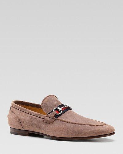 Gucci Elanor Suede Horsebit Loafers