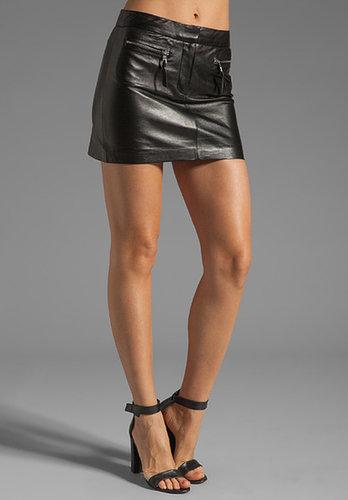 MILLY Leather Zip Pocket Mini