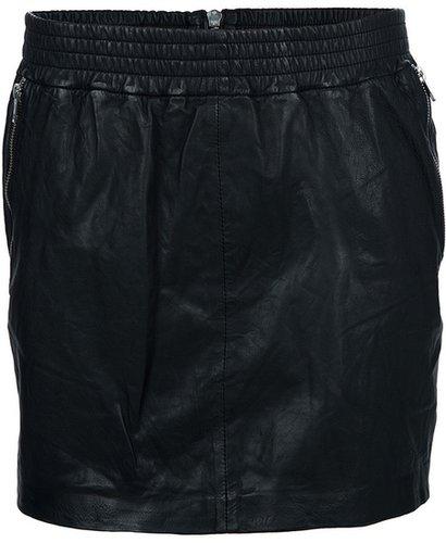 Designers Remix leather mini skirt