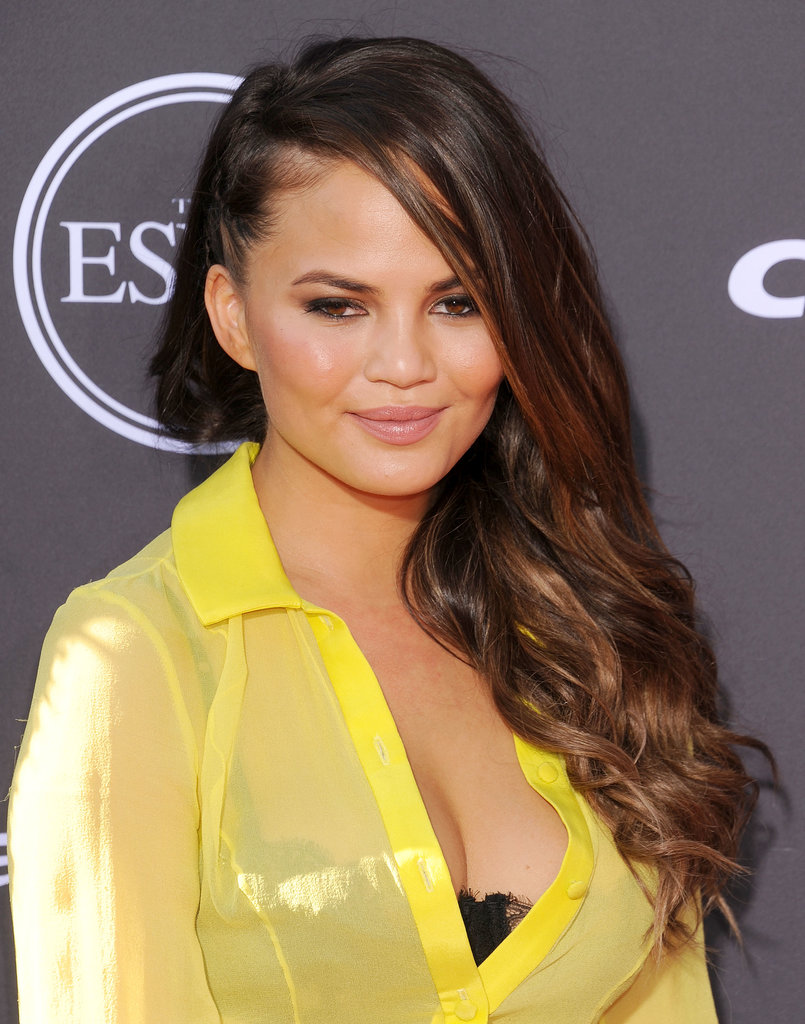 Chrissy Teigen also wore braids to the award ceremony in a sideswept style that featured a faux undercut.