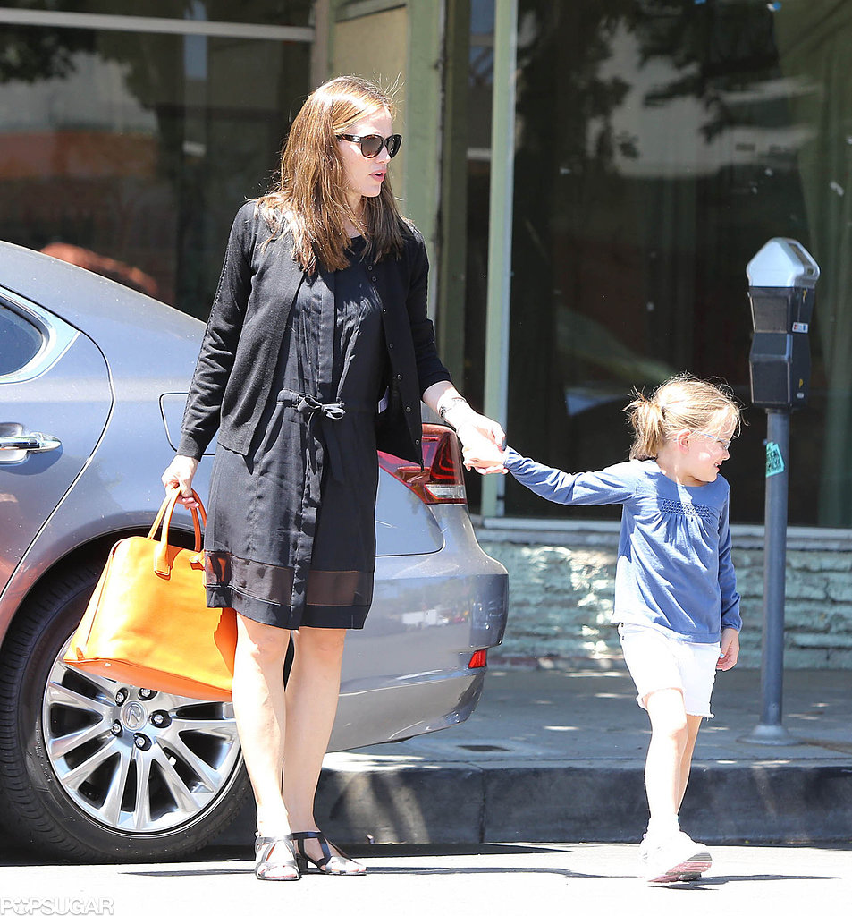 Jennifer Garner held onto Seraphina's hand.