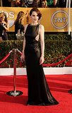 It's a look that might make Lady Mary blush — but we loved Michelle's SAG Awards arrival in this cutout Chado Ralph Rucci, which revealed just a little side boob (yes, we said it).