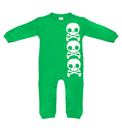 This skull bodysuit ($22) is perfect for a wild wee one (and the kelly green color keeps it from looking too rock 'n' roll for someone who's still rockin' diapers).