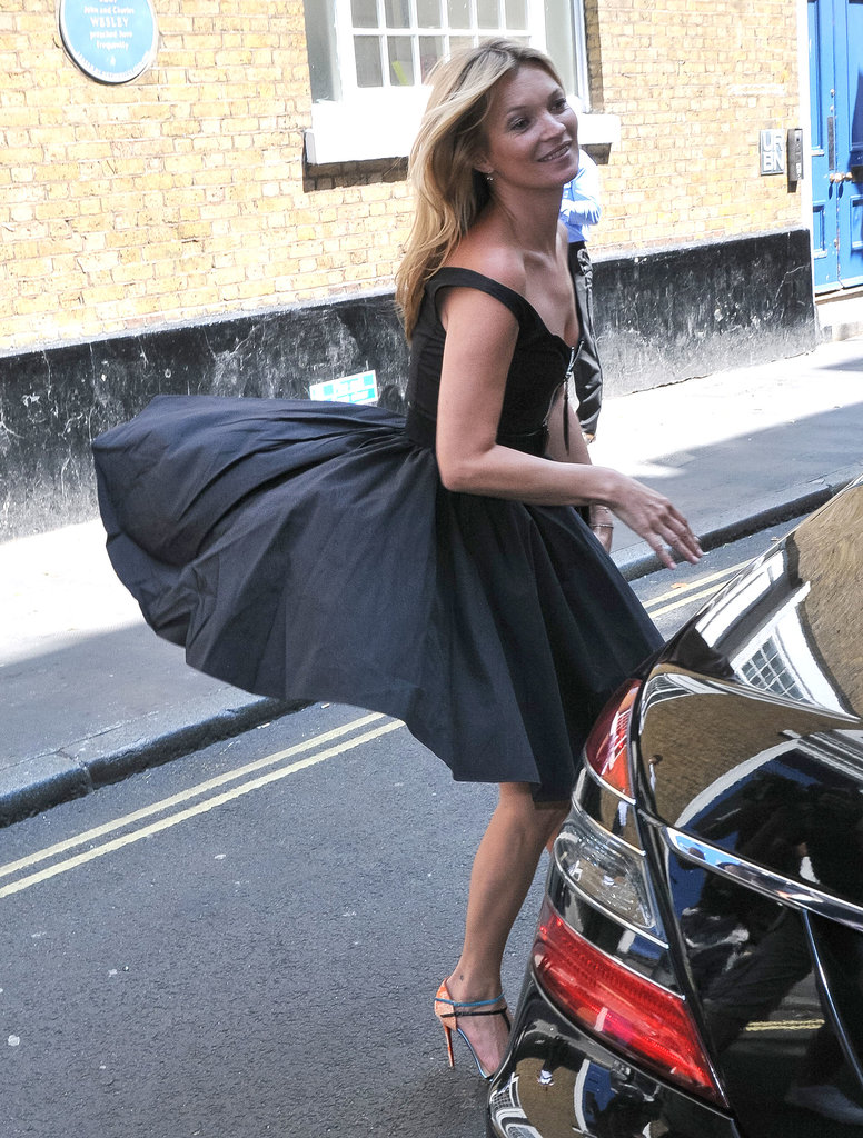 "Kate Moss had a ""Marilyn Monroe"" moment in London."