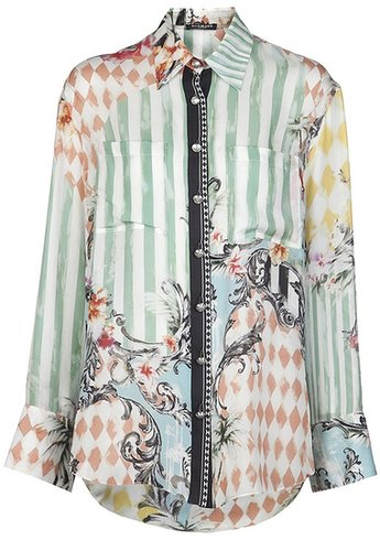 Balmain Mixed print blouse