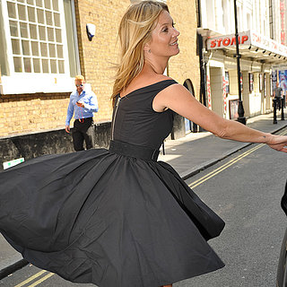 Kate Moss's Dress Flies Up in London | Pictures