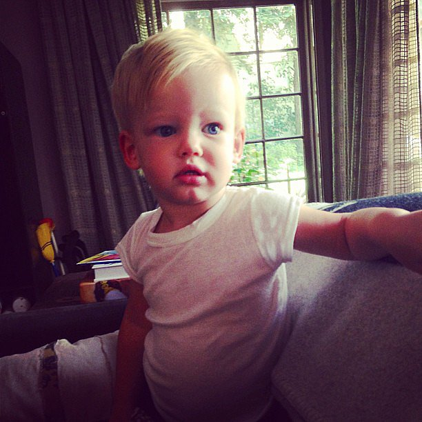 Luca Comrie struck a pose for mama Hilary Duff. Source: Instagram user hilaryduff