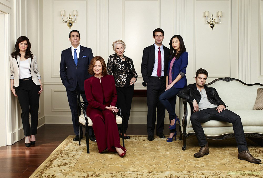 Political Animals Five nominations total, including:  Outstanding miniseries or movie Outstanding lead actress in a miniseries or movie, Sigourney Weaver Outstanding supporting actress in a miniseries or movie, Ellen Burstyn  Source: USA Network
