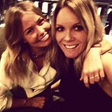 Lara Bingle caught up with designer Rebecca Vallance in London. Source: Instagram user mslbingle