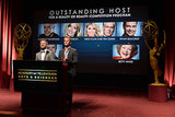Aaron Paul and Neil Patrick Harris simultaneously fulfilled and crushed dreams as they read out the 2013 Primetime Emmy Awards nominees list in Hollywood on July 18.