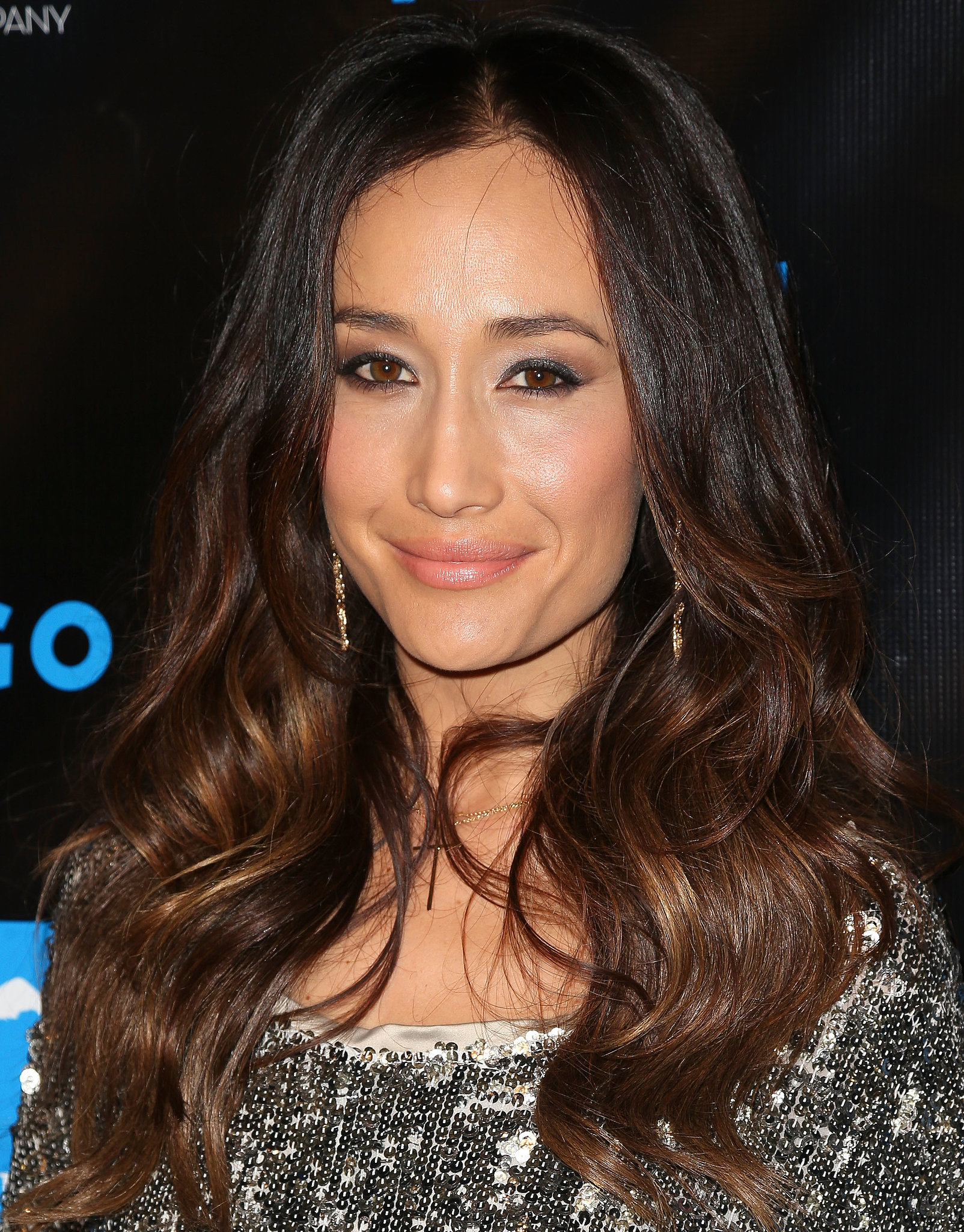 Maggie Q's curls and cat-eye liner were right on point at the Summit Red Carpet Press Event.