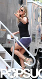 Jennifer Aniston walked to her trailer on July 19.