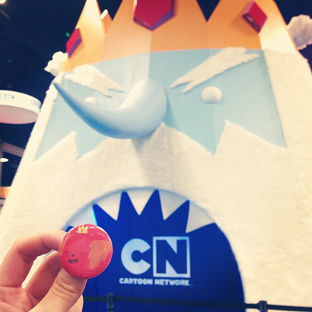 The most mini Hot Dog Princess and giant Ice King.