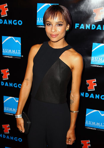 Zoe Kravitz attended a VIP celebration courtesy of Summit Entertainment.