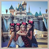 What a group! Aussie awesome foursome Zoe Ventoura, Renee Bargh, Delta Goodrem and Pia Miller made the most of a day at Disneyland. Source: Instagram user deltagoodrem