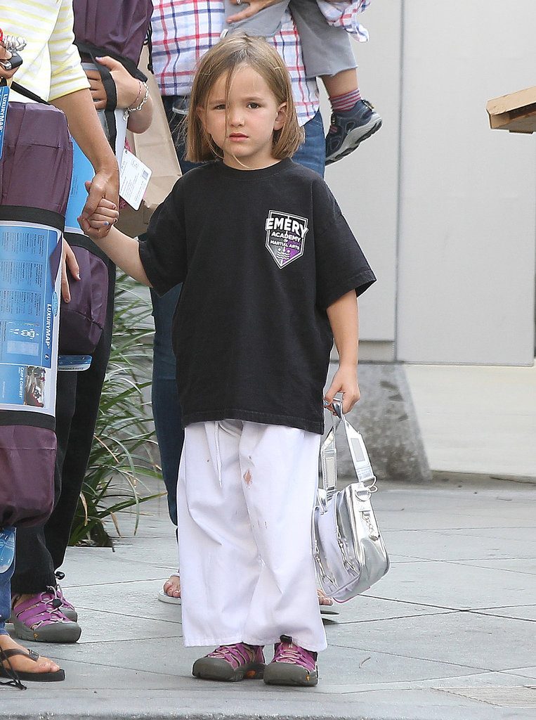Seraphina Affleck sported a cute karate uniform.