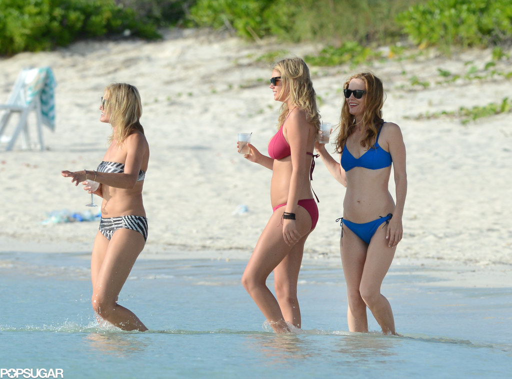 Cameron Diaz, Kate Upton, and Leslie Mann showed off their bikini bodies in the Bahamas.