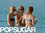 Cameron Diaz, Kate Upton, and Leslie Mann laughed together in the water.