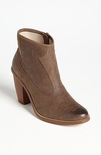 Hinge 'Addison' Bootie Womens Chocolate Leather Size 5.5 M 5.5 M