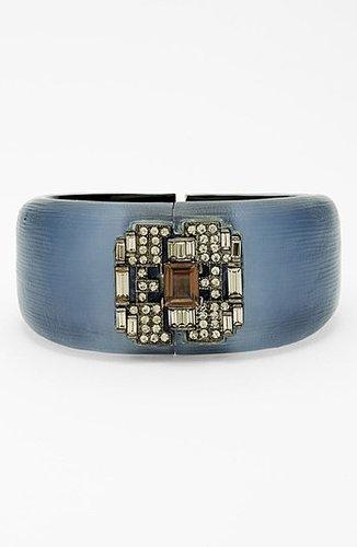 Alexis Bittar 'Lucite - Deco' Hinged Bracelet (Nordstrom Exclusive) Sea Blue