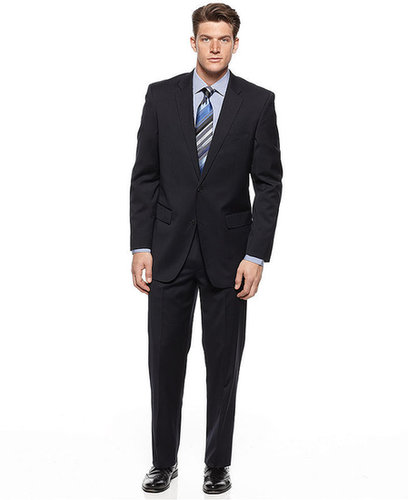 Alfani Suit, Navy STRETCH Solid
