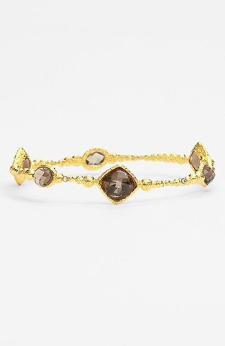 Alexis Bittar 'Elements - Cordova' Multi Stone Bangle (Nordstrom Exclusive) Gold/ Smoky Quartz