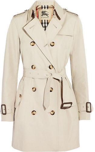 Burberry London Mid-length gabardine trench coat